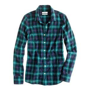 J. Crew Tops - J. Crew Plaid Perfect Shirt